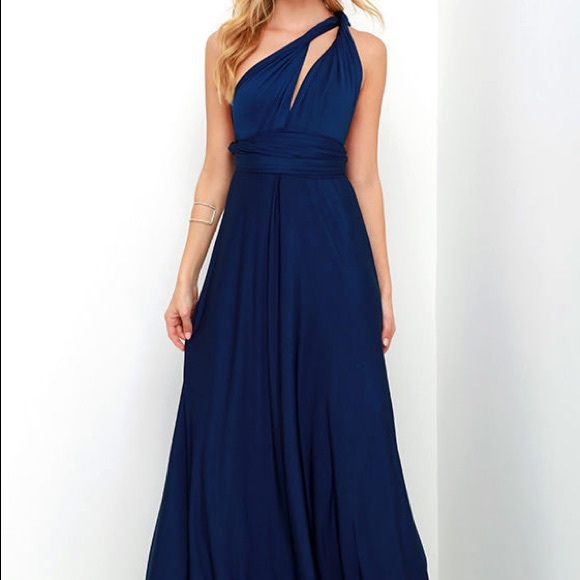 9576faf98ac Lulu s Dresses   Skirts - ALWAYS STUNNING CONVERTIBLE NAVY BLUE MAXI DRESS